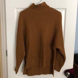 LOFT mustard mock neck dolman sleeve sweater
